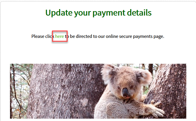 Update your payment details